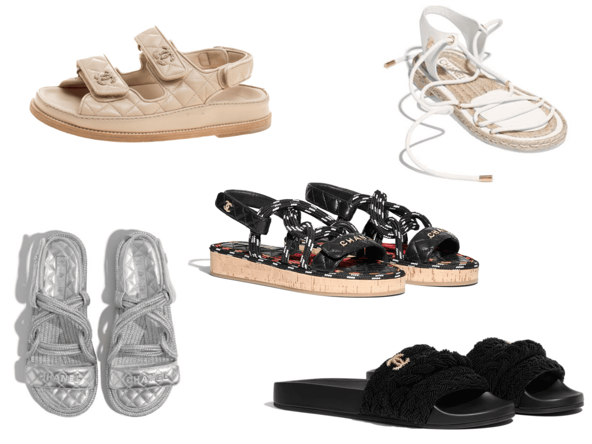 summer 2020 trends Chanel chunky sandals